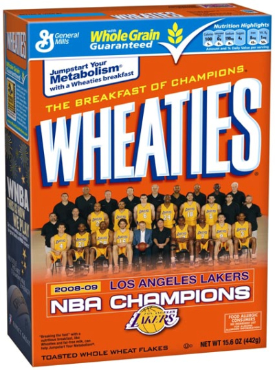 Wheaties Honours The NBA Champs