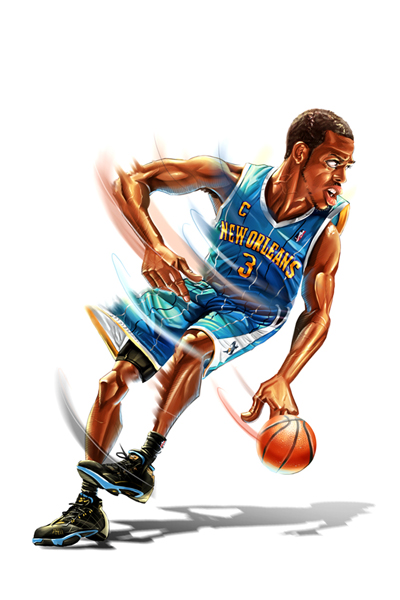 Chris Paul Caricature Art