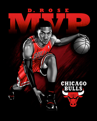 derrick rose mvp pic. Derrick Rose MVP Illustration