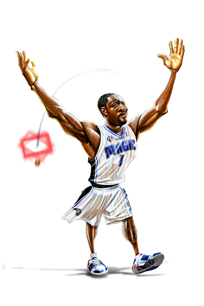 Gilbert Arenas Caricature Art