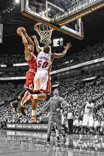 derrick rose dunks on zach randolph. Derrick Rose missed a ton of