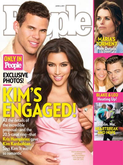 Kim Kardashian x Kris Humphries x Engaged
