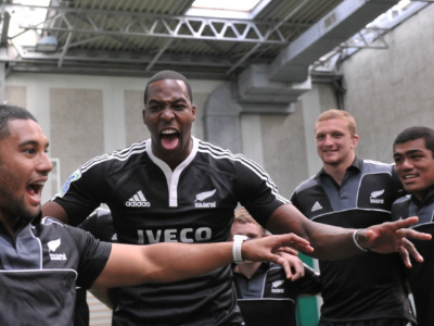 Dwight Howard Performs Haka With All Blacks Rugby Team