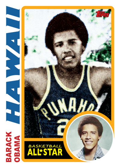 Barack Obama Punahou High School Basketball Card
