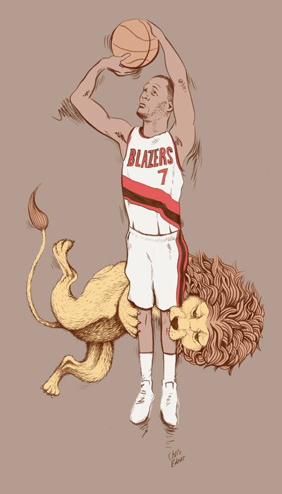 Brandon Roy 'Lion Bite' Art