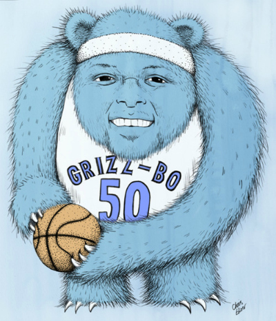 Zach Randolph 'Grizz-Bo' Art