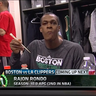 Rajon Rondo Eating Sushi With Chopsticks