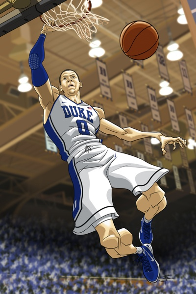 Austin Rivers Caricature Art