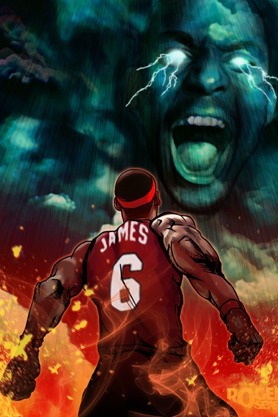 KG Screaming At LeBron Art Hooped Up