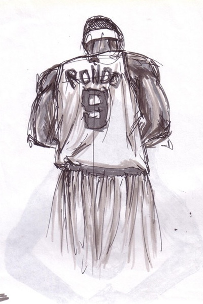Rajon Rondo 'Rough Draft' Art