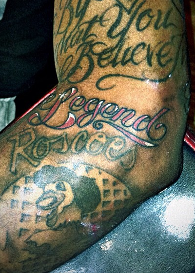 Brandon Jennings 'Roscoe's House of Chicken and Waffles' Tattoo