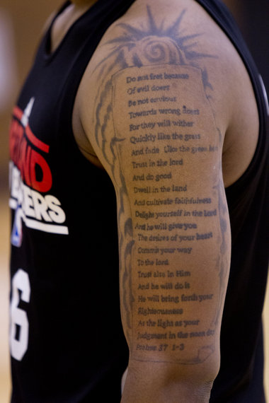 Damian Lillard Psalm 37 Tattoo Hooped Up