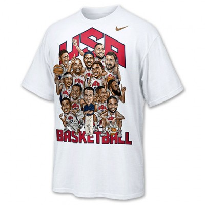 Freshly Dipped: Nike 2012 USA Basketball Gold Caricature Tee