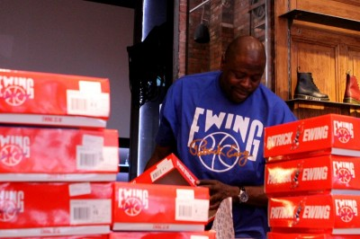 Patrick Ewing Celebrates Ewing Athletics 33 Hi Release