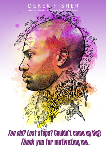Derek Fisher 'Old Bone' Art