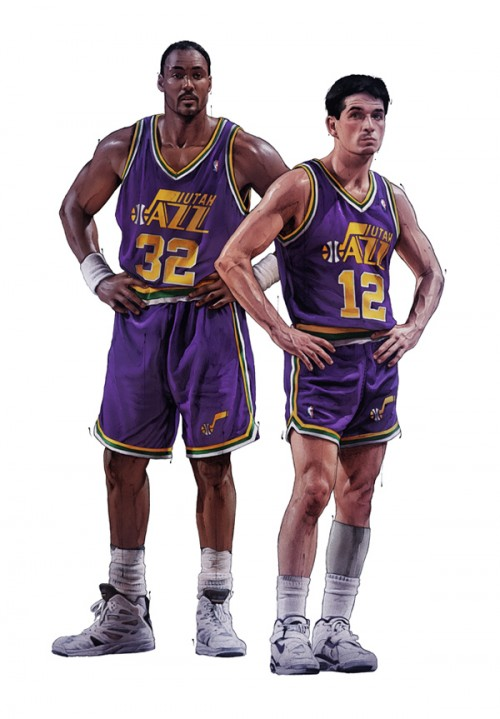 an analysis of the role of john stockton and karl malone on the topic of basketball