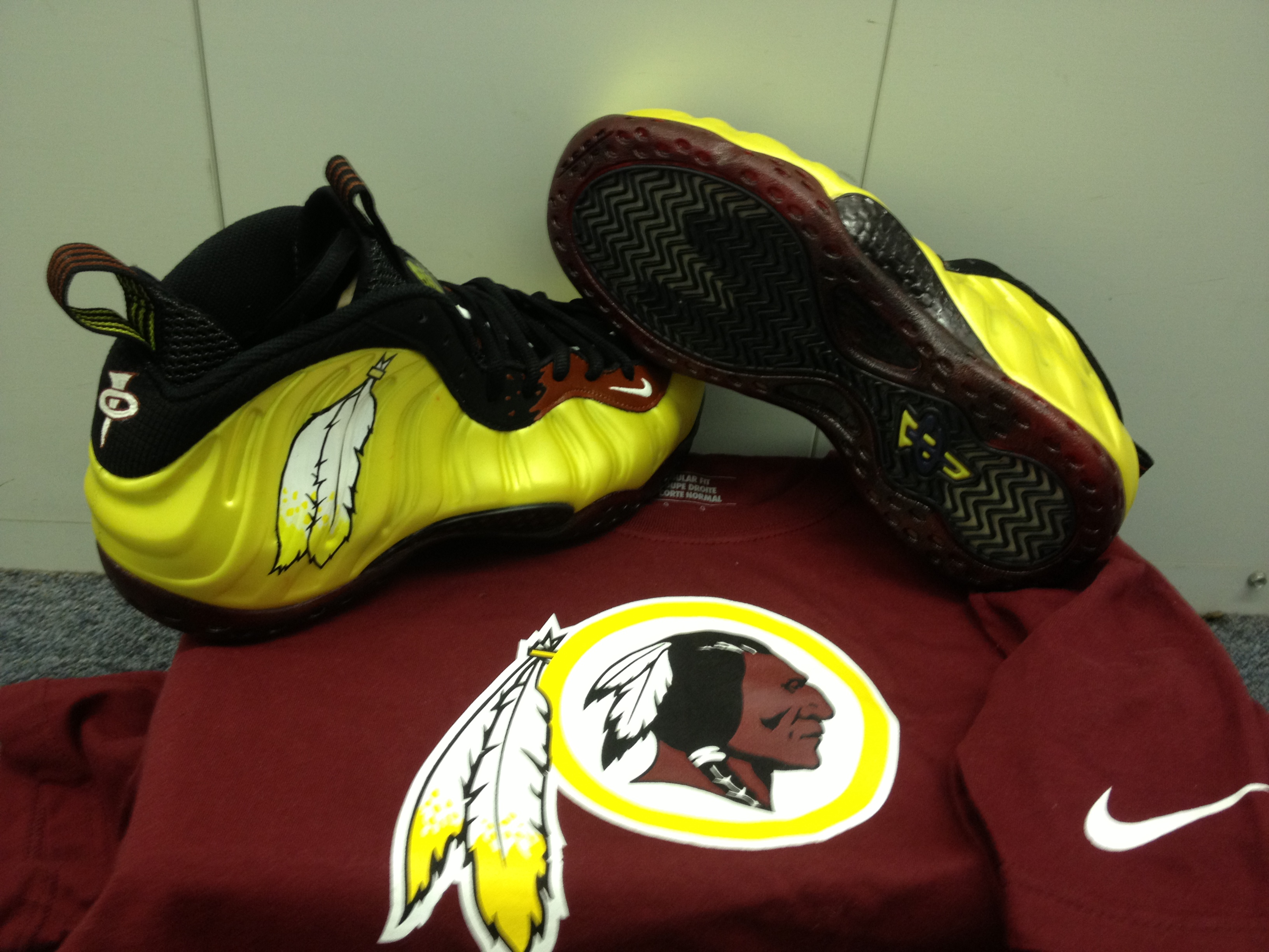 cc5d3ef084d Freshly Dipped  Nike Air Foamposite One  Redskins  – Hooped Up