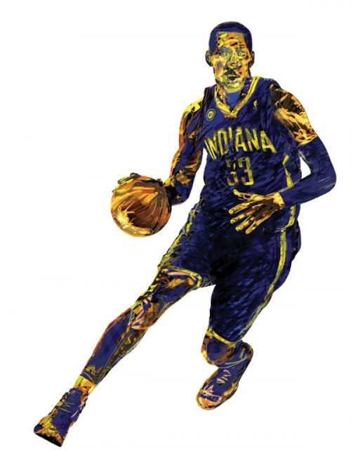 Pacers 'Neiman Style' Art