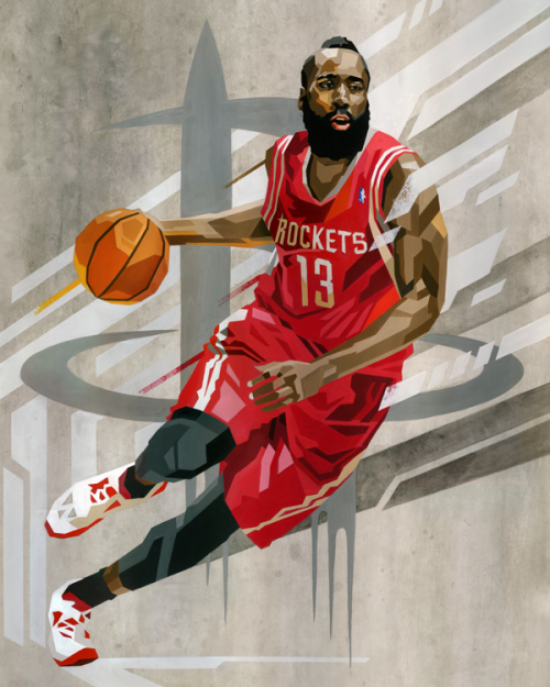 James Harden 'Geometric' Art