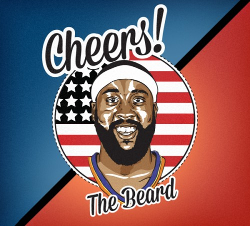 James Harden 'Freedom Beard' Art