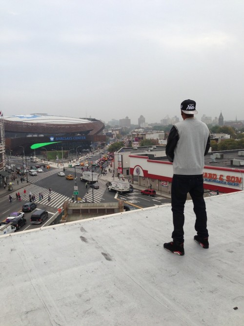 Jay Z Overlooks The Barclays Center