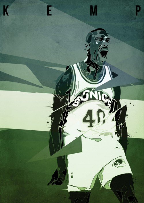 Shawn Kemp Abstract Art