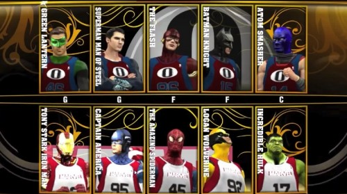 Justice League vs Avengers In NBA 2k13 (VIDEO)