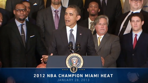 Miami Heat Visit Barack Obama at The White House