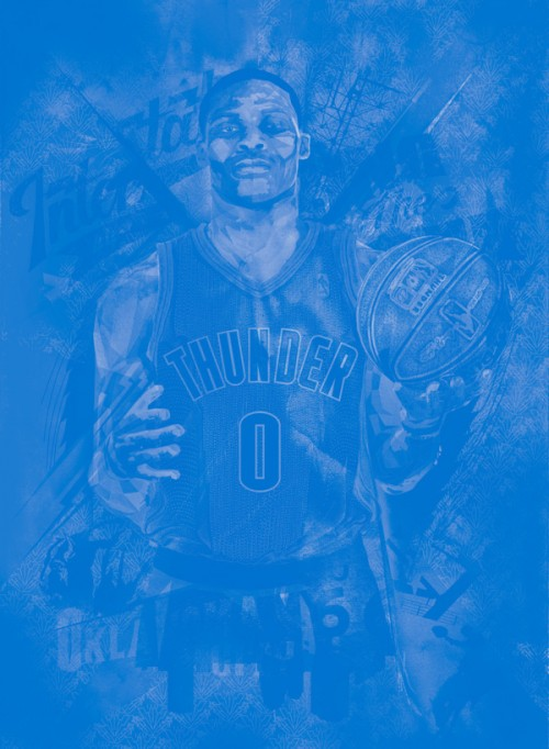 russell-westbrook-monochromatic-art