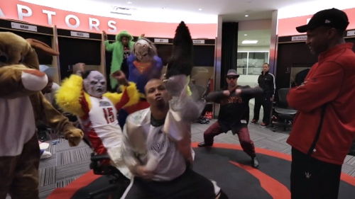 The Raptors Do The Harlem Shake