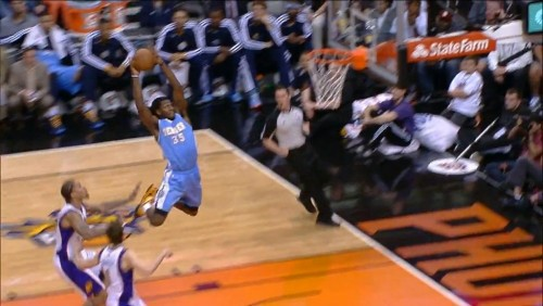Ty Lawson Connects With Kenneth Faried From Long-Range