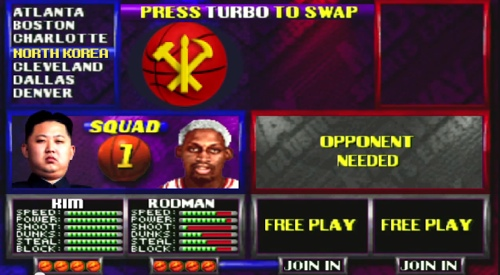 Dennis Rodman And Kim Jong Un NBA JAM Teammates