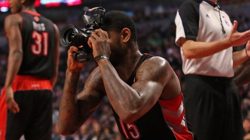 Amir Johnson, Opportunistic Sports Photographer