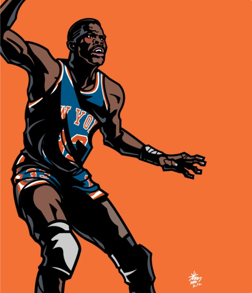 Patrick Ewing 'Big Apple' Art
