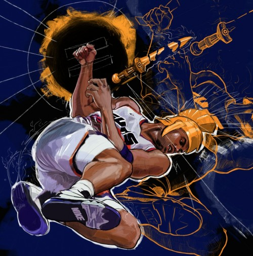 Charles Barkley 'The Sun' Art