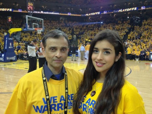 Vivek Ranadivé and daughter