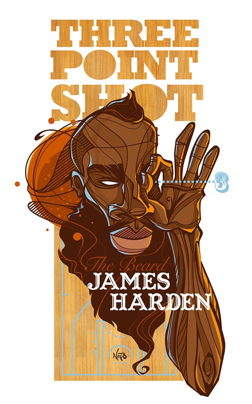 James Harden 'Three Point Shot' Character Design