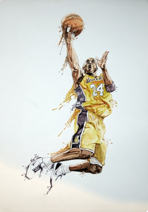 Kobe Bryant painting