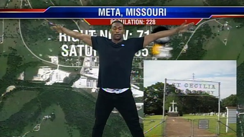 Metta World Peace yoga weatherman