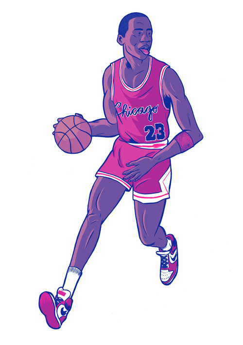 Michael Jordan cartoon