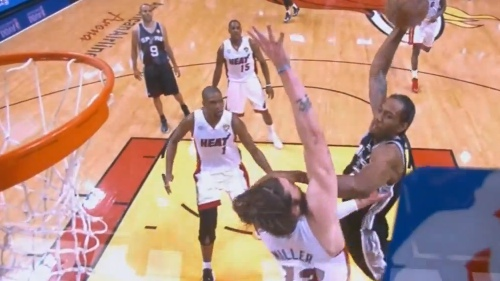 Kawhi Leonard Dunks All Over Mike Miller