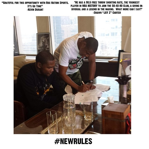 Kevin Durant Officially Signs With Jay-Z