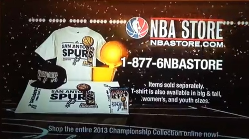 NBA TV Runs Spurs Championship Gear Commercial