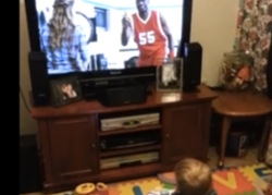 This Baby Loves the Dikembe Mutombo Geico Commercial