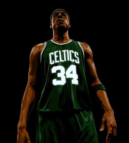 Paul Pierce 'The Celtic' Art