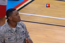 U.S. Airman Goes Airborne For Windmill Dunk In Battle Gear