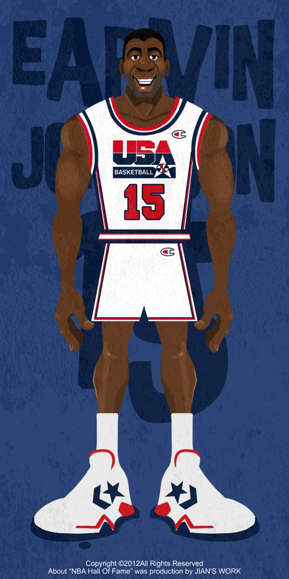 1992 Dream Team Illustration