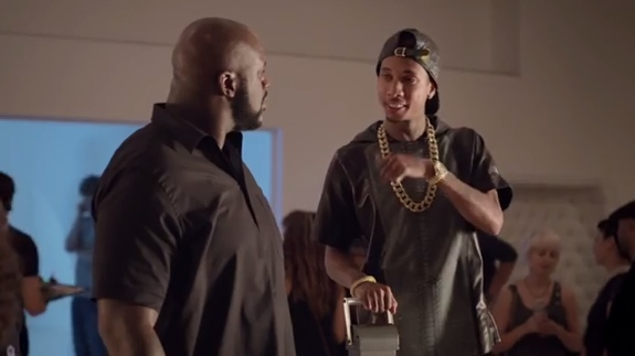 Shaq and Tyga In The 'Conversation Lift'