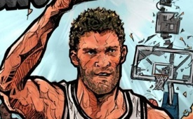 Brook Lopez Comic Book Cover