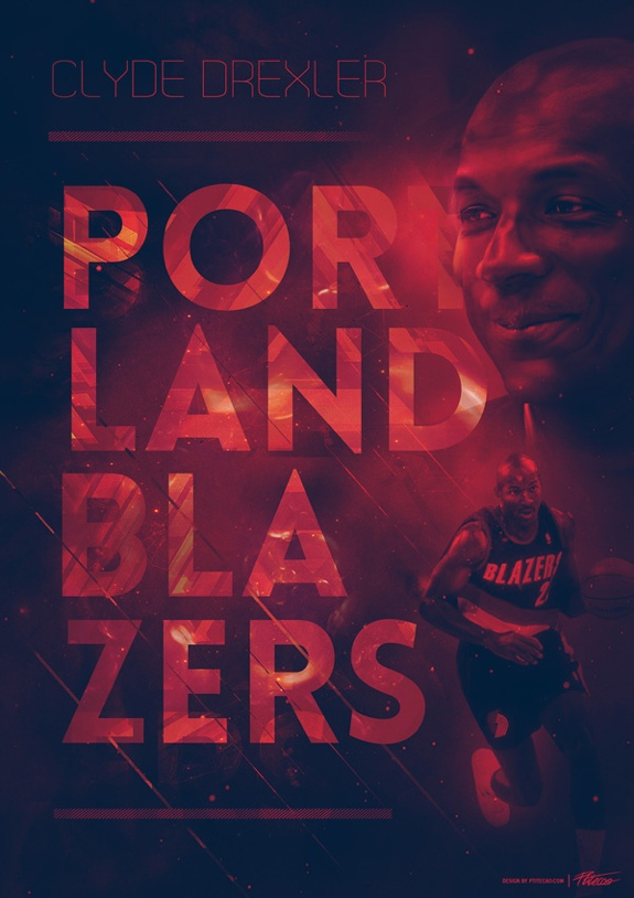 Clyde Drexler Franchise Legend Art